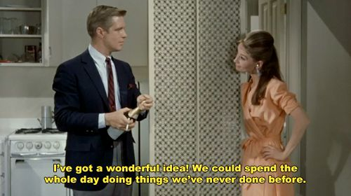 Breakfast at Tiffany's..this is my favorite part of the movie. The day they spend doing new things!