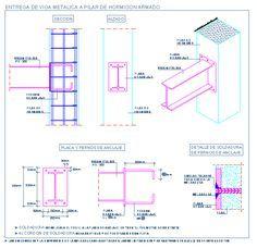 Entrega de viga metalica a pilar de hormigón armado   detallesconstructivos.net