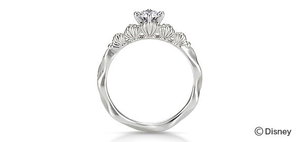 """""""A Mermaid in Love"""" The Little Mermaid Engagement Ring"""