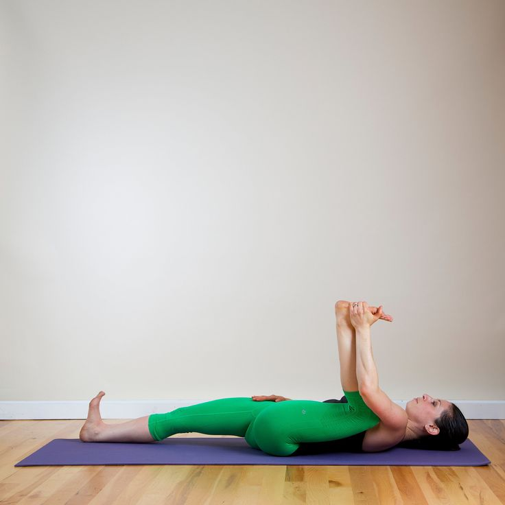 Tight Hips? Sore Back? Four INCREDIBLE Poses That Offer Instant Relief: Try the Half Happy Baby. #SELFmagazine