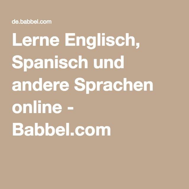 Lerne Englisch, Spanisch und andere Sprachen online - Babbel.com