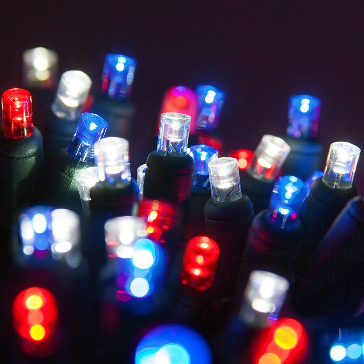 70 5mm blue red cool white led christmas lights 4 spacing - Red And White Led Christmas Lights
