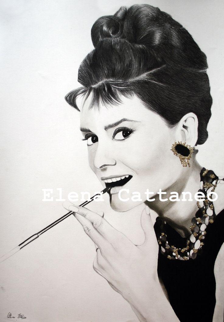 Disegno realizzato con carboncini, pastelli, matita, biro bianca a gel e glitter. (50 x 70)