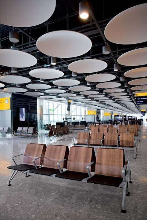Stylish Airport Seating : Vitra chairs