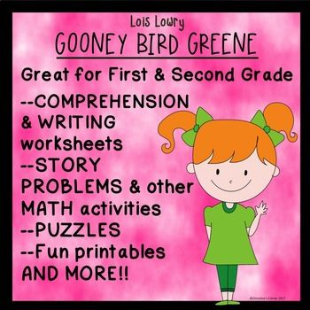 Do you need activities for your first or second graders to complete now that you have finished the book Gooney Bird Greene? Included in this packet are activities, printables, and worksheets to accompany the book. These pages would be great used as an end of the book assessment, morning work, seat work or