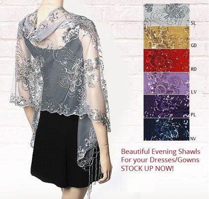 Yours Elegantly for unique shawls wraps scarves for evening formal occasions and…