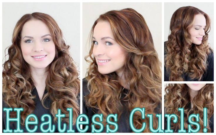 Easy Heatless Curls Tutorials. This girl gives really good tutorials on YouTube.