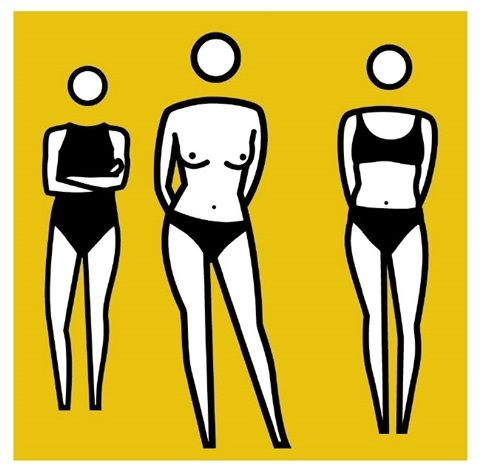 This is our new available work by Julian Opie, Bathers, 2000. Contact us at www.meadcarney.com for more information!  #julianopie #bathers #woman #yellow #art #artist #gallery #collector #collection #meadcarney #contemporaryart #fineart