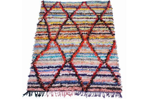 Vintage Boucherouite Rag Rug | Vinterior London #vintage #rag #rug