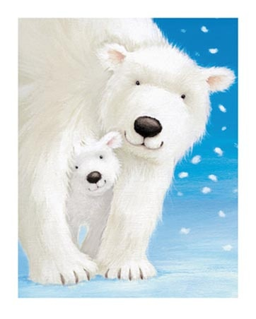Fluffy Bears Out For A Walk - by Alison Edgson - Polar bears <3