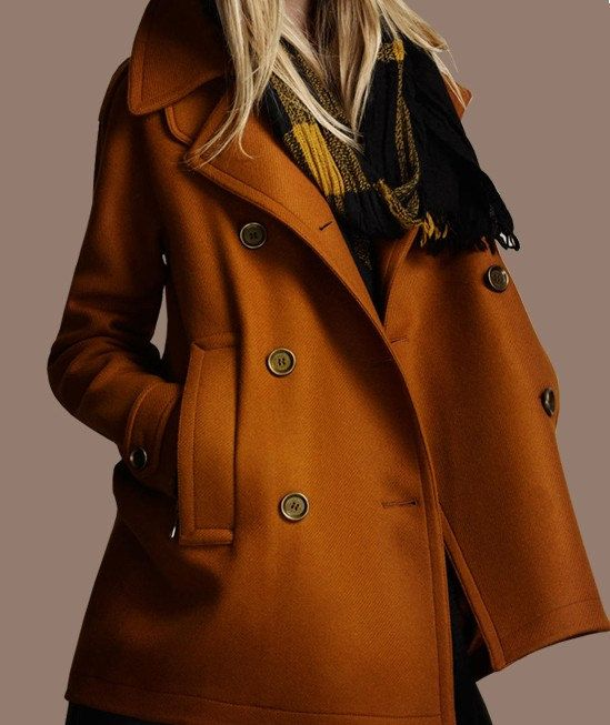 Noir / jaune laine veste manteau femmes robe par happyfamilyjudy
