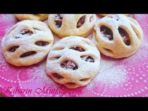 Elmalı turta şeklinde kafes kurabiye tarifi - Tam Ölçülü en güzel kurabiyeler - kibarin mutfagi - YouTube