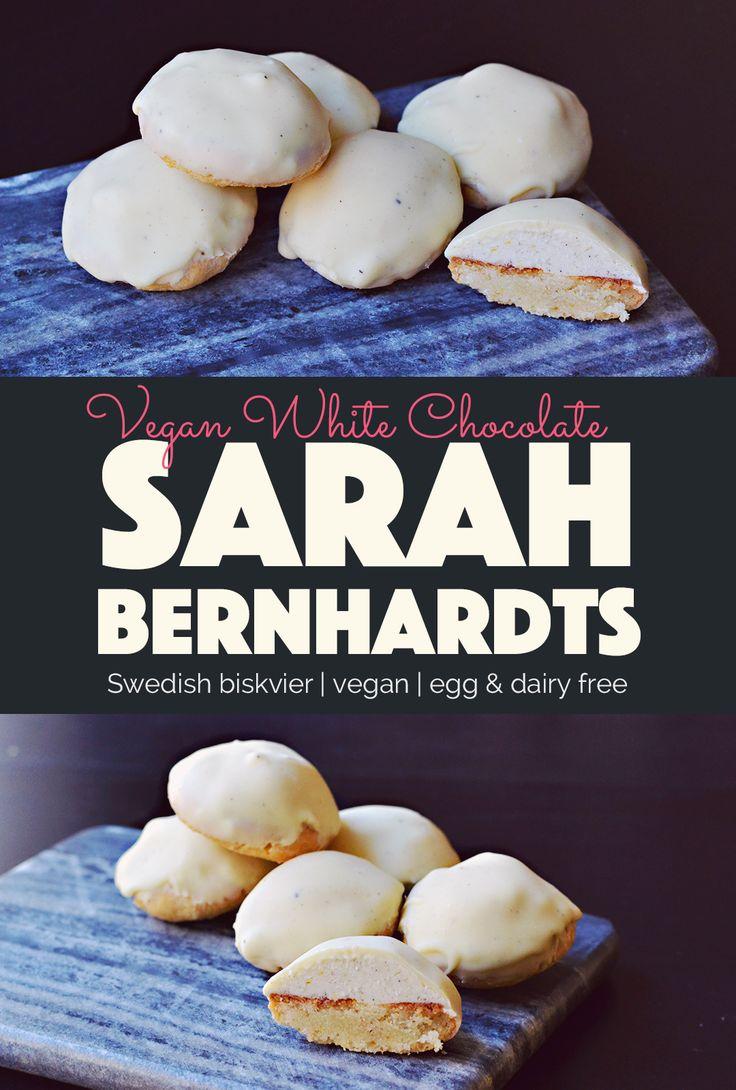 Vegan White Chocolate Biskvier Sarah Bernhardts  http://BananaBloom.com