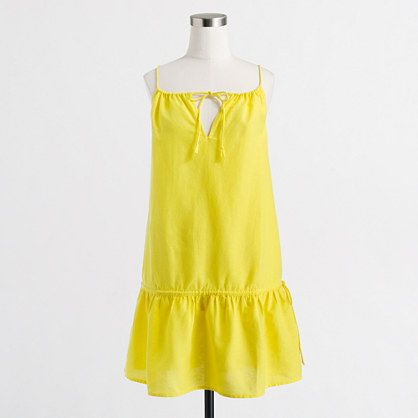 J.Crew+Factory+-+Factory+drop-waist+drawstring+dress