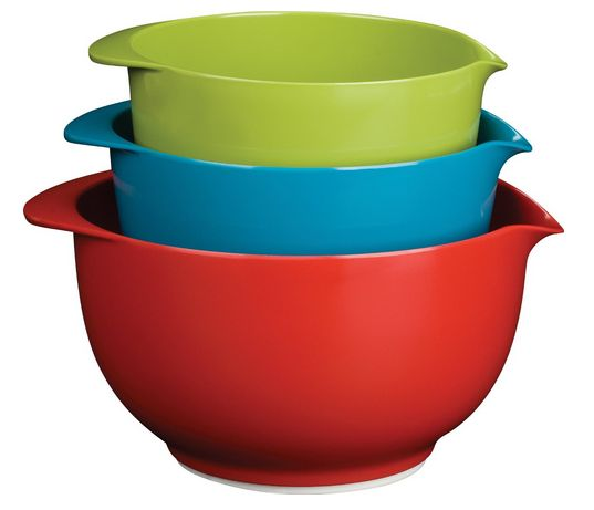 Trudeau Mixing Bowl Set PROGRESSIVE 19-PIECE MEASURING SET & TRUDEAU MIXING BOWL SET UNDER $15 EACH ~ COLORFUL KITCHEN TOOLS!: Melamine Mixed, Mixing Bowls, Mixed Bowls, Trudeau Melamine, Kitchens Dining, Bowls Sets, Home Kitchens, Six Sisters Stuff, Kitchens Items