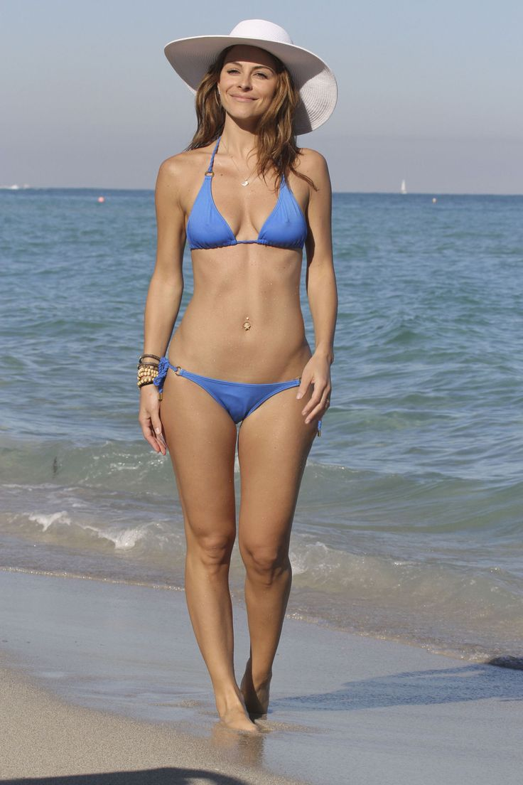 Maria Menounos Bikini | Maria Menounos in Blue Bikini at ...