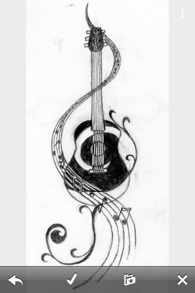 Guitar Designs Art : Images about embroidery musical instruments on