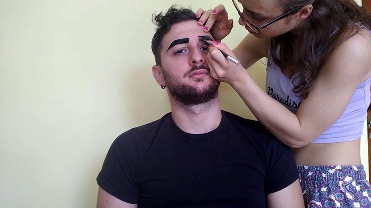 Face paint geometrico realizzato tramite aquacolor.     #facepaint #makeup #artistic #art #face #makeupartist #brush #model #youtube #paint