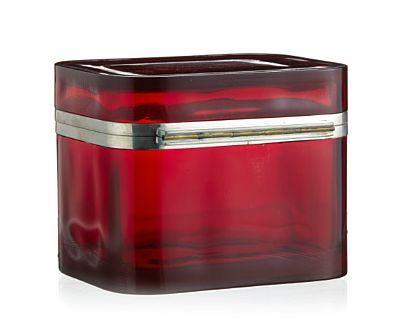 JOSEF FRANK, Bade Bei Wien 1885 - STOCKHOLM 1967  Skrin Svenskt Tenn. Art deco. Rødt glass med fatning i sølvplett. Sverige, 1930-tallet