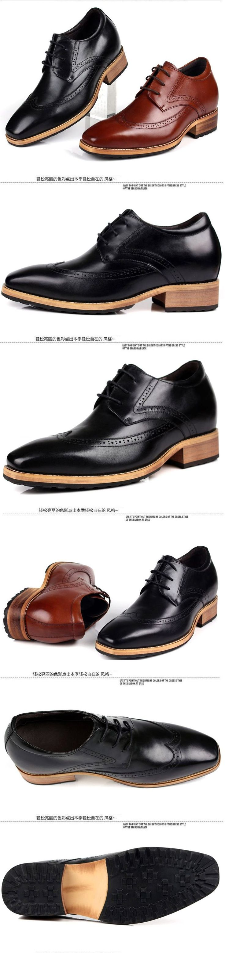 Korean men tide elevator business shoes be taller 8cm / 3.15inches