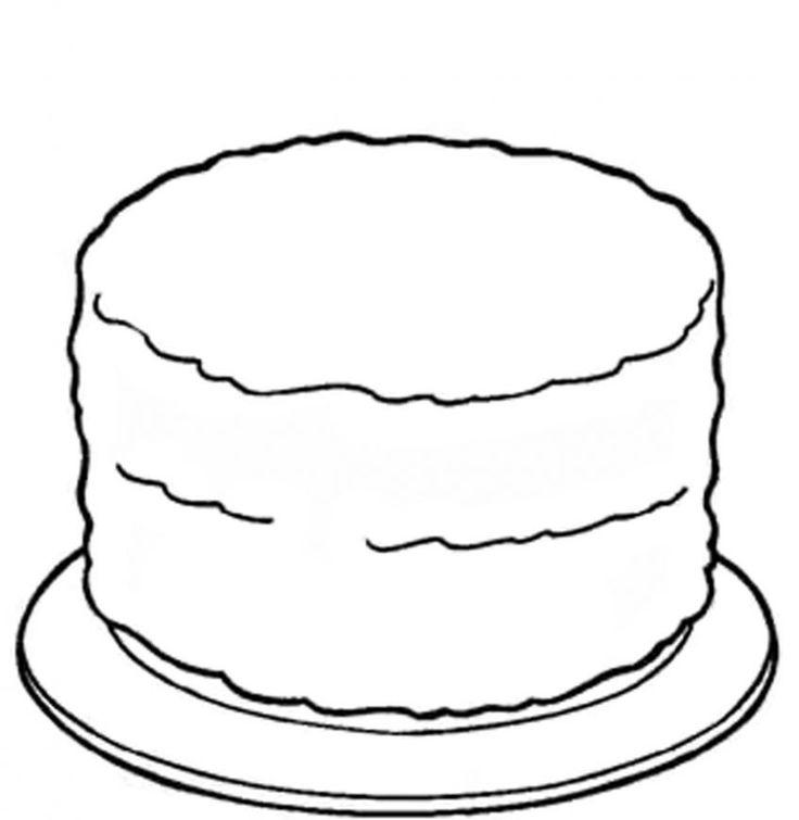 kleurplaat lege taart malvorlagen fur kinder ausmalbilder