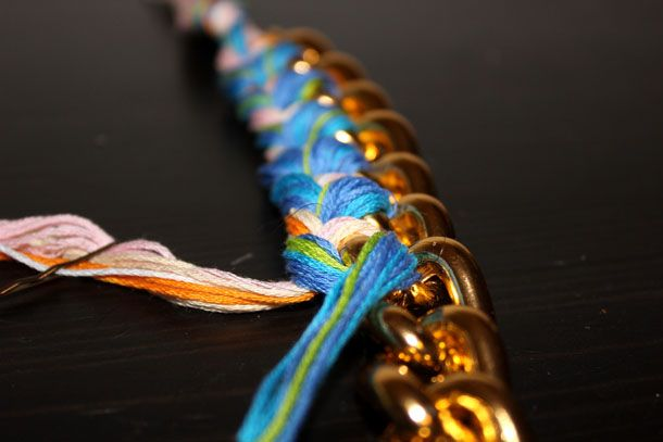 DIY: Wrapped Curb Link Bracelet