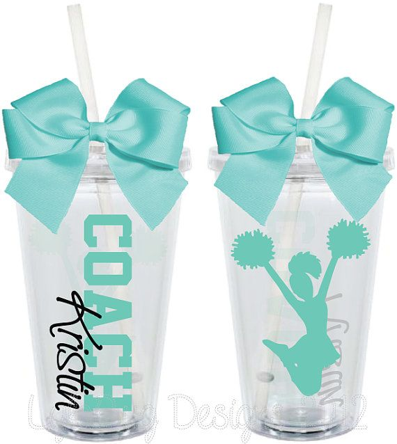 Cheer Coach Cups Teacher Appreciation 16oz by LylaBugDesigns, $15.00