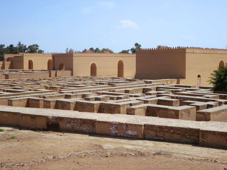 This maze of foundations next to the reconstructed Palace of Nebuchadnezzar II at Babylon, Iraq, may be the site of the 6th century BC Hanging Gardens.