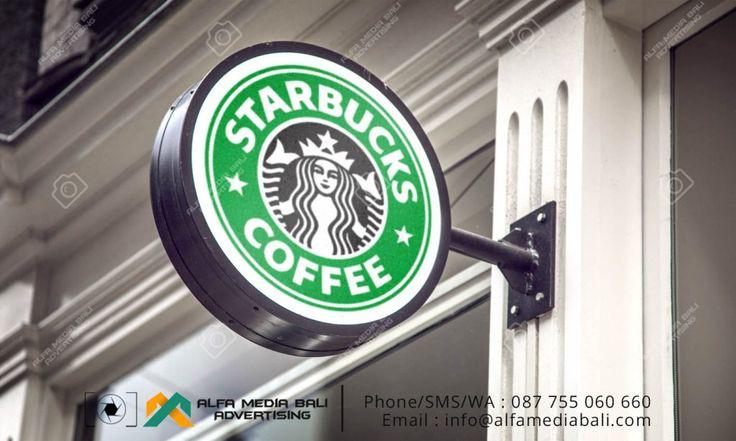 Neon box Bulat Starbucks bali | Alfa Media Bali