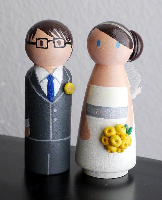 Wedding peg doll