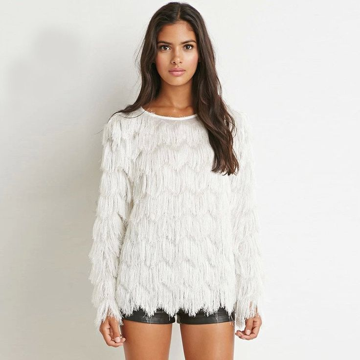 Ladies Tassel Pullover