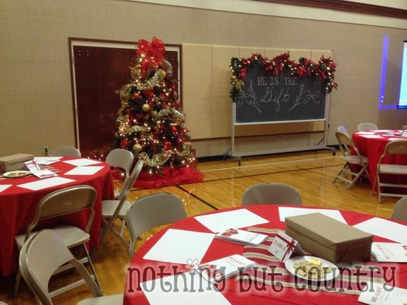 Ward Christmas Party #sharethegift He Is The Gift- use chalkboard for santa backdrop?