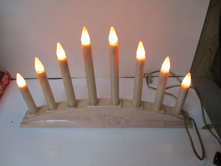 Vintage Paramount PINK 8 Light C-6 Christmas Light Electric Window Candles