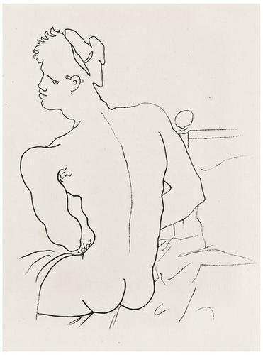 Jean COCTEAU - Querelle de Brest.  29 full-page illustrations by Jean Cocteau of Jean Genet's sadomasochistic, fantasy novel.