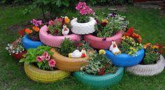 ideas para decorar el jardin con poco dinero - Buscar con Google                                                                                                                                                                                                                                                                                           5 repins