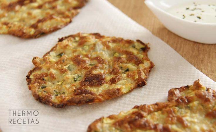 Tortitas de calabacín (sin huevo) al horno - http://www.thermorecetas.com/tortitas-de-calabacin-sin-huevo-al-horno/