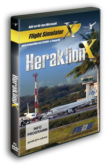 "AEROSOFT : Heraklion X There are few places on earth that have such a long history of civilized habitation as Crete. Its location and the pleasant climate are still reasons why it is a destination for so many people. If you travel to Crete you will land on its main airport, Heraklion International Airport ""Nikos Kazantzakis""which has finally arrived in FSX, Prepar3D and FS2004.  The Heraklion International Airport "" Nikos Kazantzakis"" will soon be replaced by a brand new airport because it…"