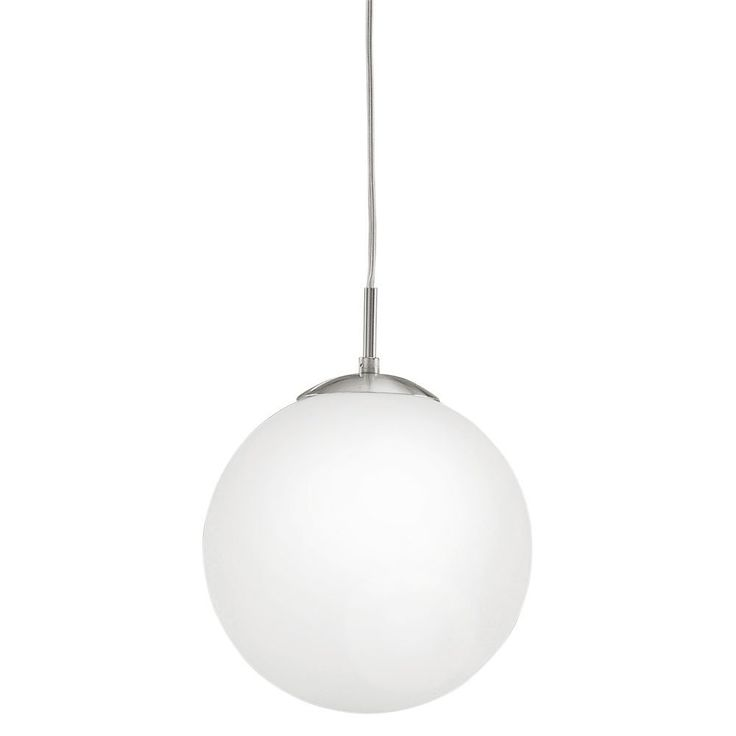 Eglo lighting rondo modern pendant with glass globe shade amazon co uk