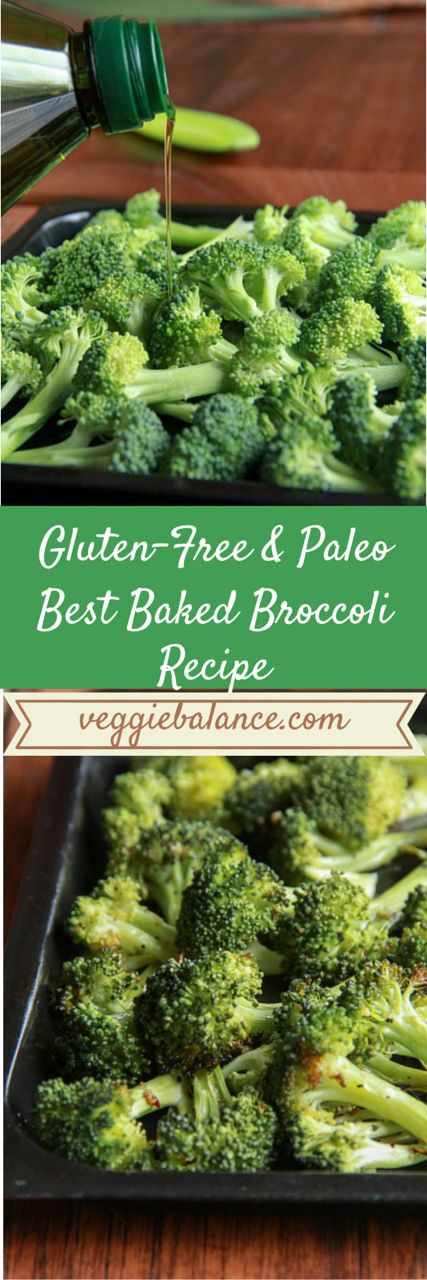 Best Baked Broccoli recipe ever. You'll never need another. Just 3-ingredients for the best side dish.