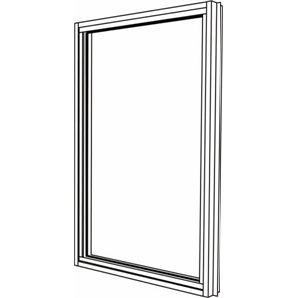 Polar Eco-View 600 x 945mm Double Glazed Fixed Black Window