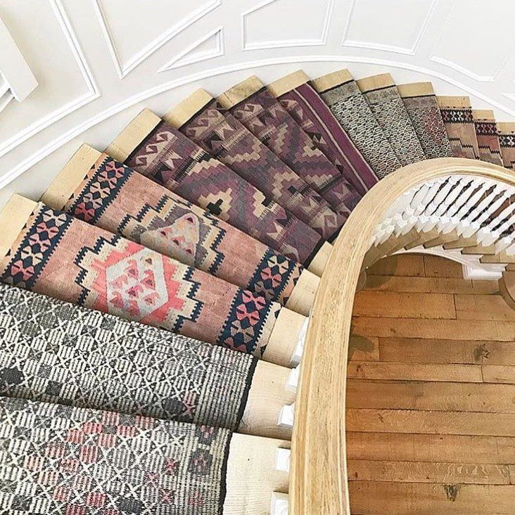 "51 Likes, 1 Comments - Joshua D. Guzmán (@kazimahcarpets) on Instagram: ""This is what dreams are made of!!! Beautiful Turkish kilim runners making this staircase look…"""