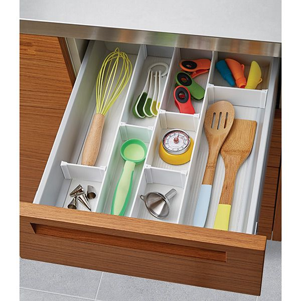 Divide and conquer disorderly drawers with the ultimate custom organizer system.