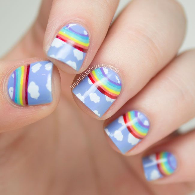 Rainbow Nail Art Designs: 25+ Best Ideas About Rainbow Nail Art On Pinterest