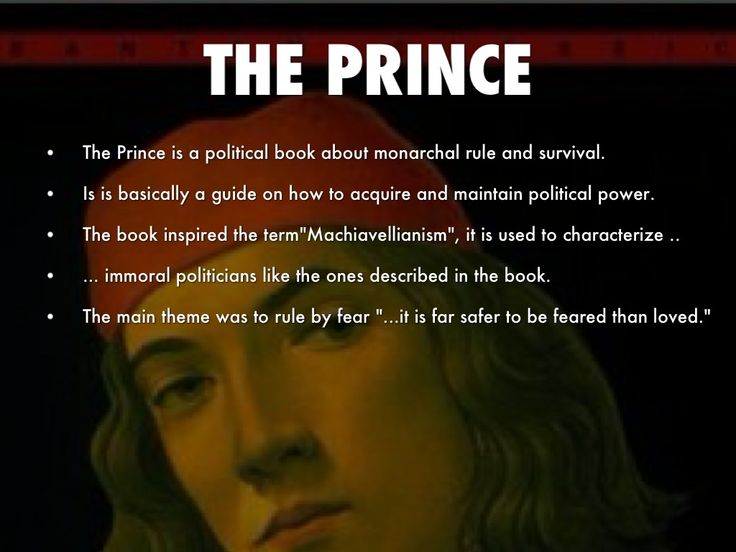 an personal recount of reading niccolo machiavellis the prince Machiavelli, niccolo the qualities of the prince world of ideas gore's supporters sued the state of florida for a recount 05 march 2015 machiavelli the qualities of the prince pre reading questions 1.