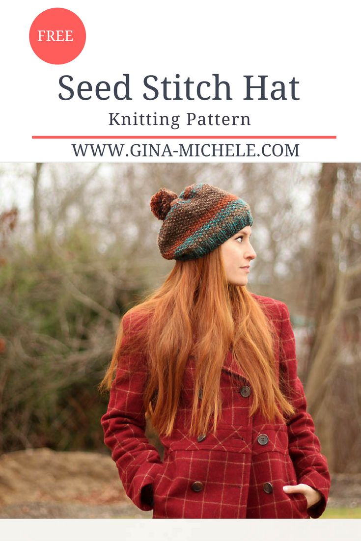 170 best gina michele knitting patterns images on pinterest free knitting pattern for a seed stitch hat bankloansurffo Image collections