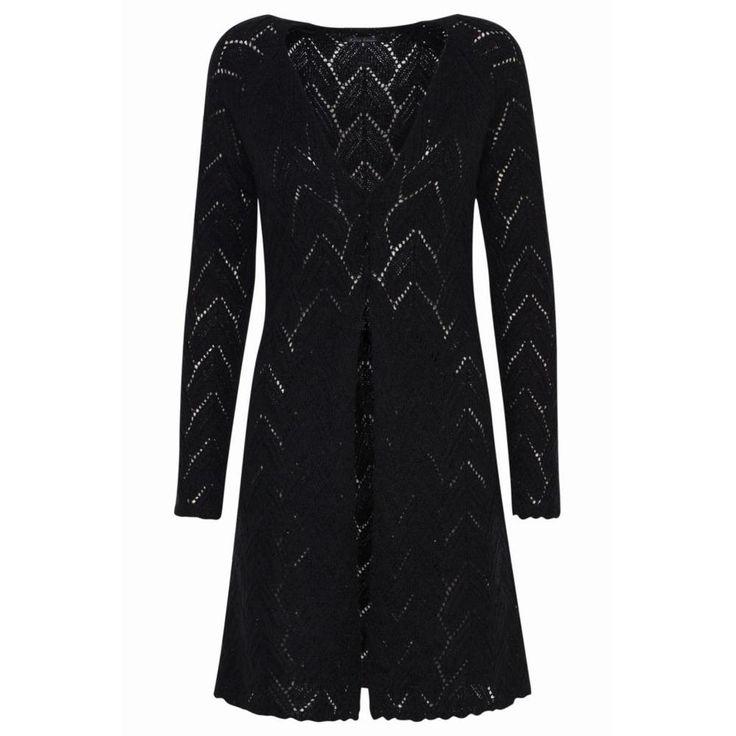 Zwart Abbey Vest van King Louie - Vesten