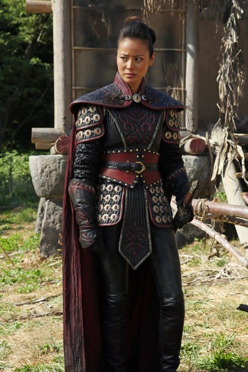 """Mulan"" ABC's Once Upon A Time. ooooh myyy, perhaps I shall take up quilting until I get my hands on that amount of leather."