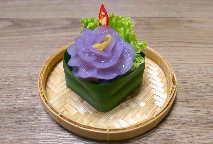 Thai Dessert ช่อม่วง (Chor Muang) #thaidumpling #thaidessert #dumplings
