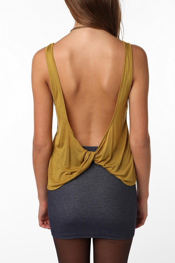 urban outfitters super open back tank