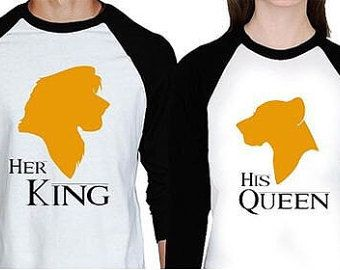Disney Shirts Couples Shirt Lion King Shirts by AlaneMaineDesigns